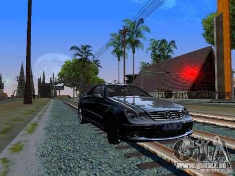 Mercedes-Benz CLK55 AMG pour GTA San Andreas laissé vue