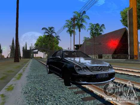 Mercedes-Benz CLK55 AMG für GTA San Andreas linke Ansicht
