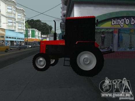 Tracteur MTF 1025 pour GTA San Andreas laissé vue