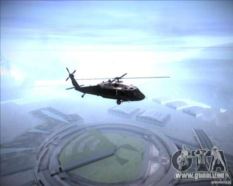 Sikorsky VH-60N Whitehawk pour GTA San Andreas sur la vue arrière gauche