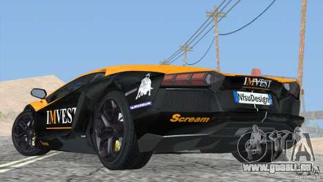 Lamborghini Aventador LP700-4 2012 für GTA San Andreas