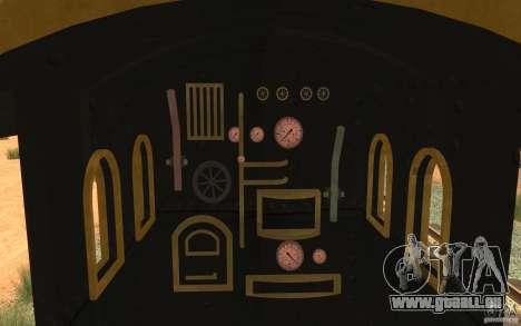 Locomotive pour GTA San Andreas vue intérieure