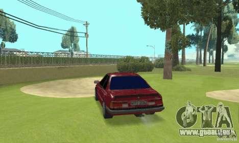 BMW M6 E24 stock pour GTA San Andreas sur la vue arrière gauche