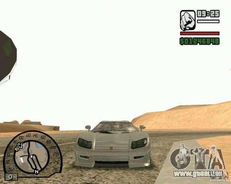 Koenigsegg CC8S pour GTA San Andreas sur la vue arrière gauche