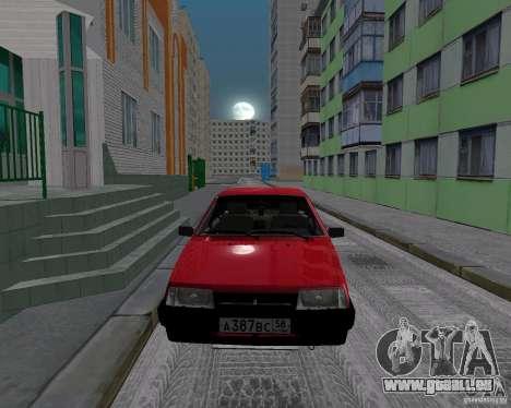 VAZ 21099 Satellite pour GTA San Andreas sur la vue arrière gauche