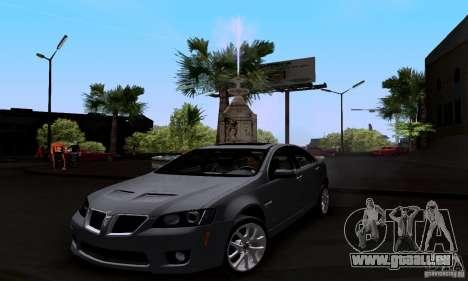 Pontiac G8 GXP für GTA San Andreas rechten Ansicht