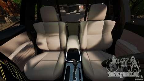 Dodge Charger RT Max FBI 2011 [ELS] pour GTA 4 est une vue de l'intérieur