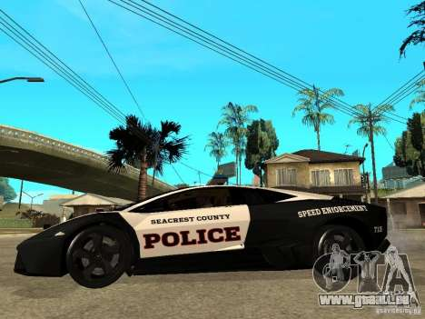 Lamborghini Reventon The Speed Enforcer für GTA San Andreas linke Ansicht