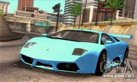 Lamborghini Murcielago R-SV GT1 für GTA San Andreas obere Ansicht