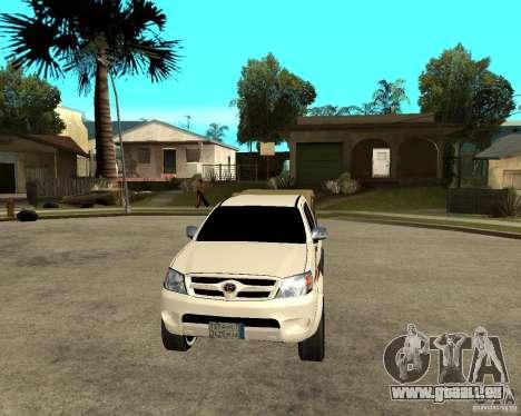 Toyota Hilux 2010 für GTA San Andreas Rückansicht