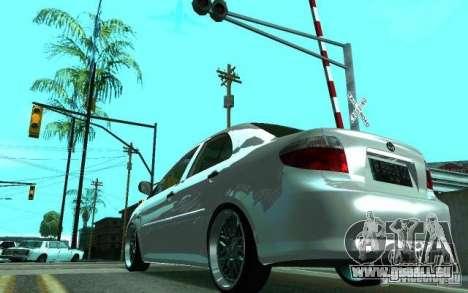 Toyota Vios pour GTA San Andreas sur la vue arrière gauche