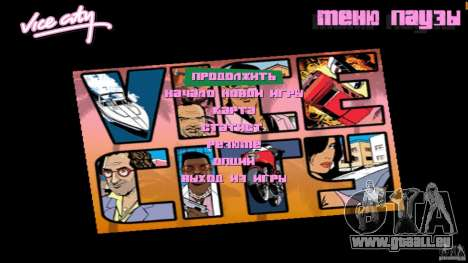 Menue Mod Beta für GTA Vice City zweiten Screenshot