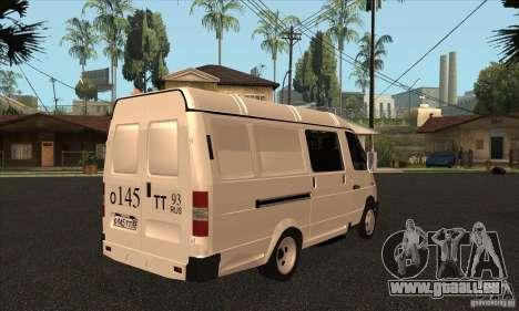 Gazelle 2705-Fracht-Passagier für GTA San Andreas obere Ansicht