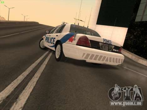 Ford Crown Victoria Vancouver Police für GTA San Andreas linke Ansicht