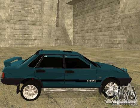 VAZ 21099 Sparco-Melodie für GTA San Andreas Rückansicht