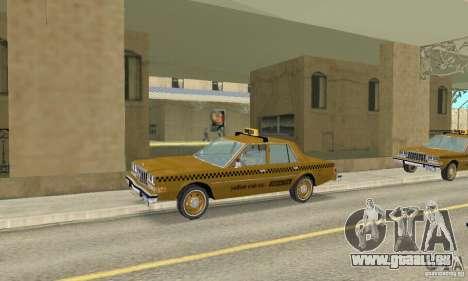 Dodge Diplomat 1985 Taxi pour GTA San Andreas vue de droite