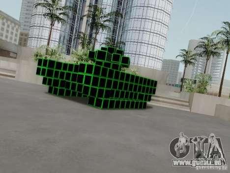 Pixel Tank pour GTA San Andreas sur la vue arrière gauche