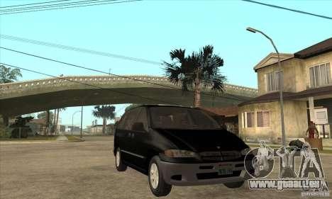 Dodge Caravan 1996 pour GTA San Andreas vue arrière