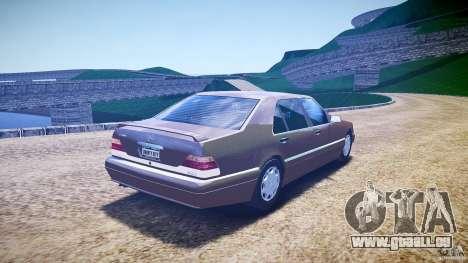 Mercedes Benz SL600 W140 98 performance shafter pour GTA 4 est un côté
