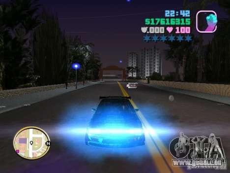 Nissan Silvia S15 Kei Office D1GP pour GTA Vice City vue de dessous