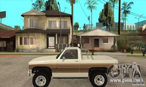 Ford Ranger pour GTA San Andreas laissé vue