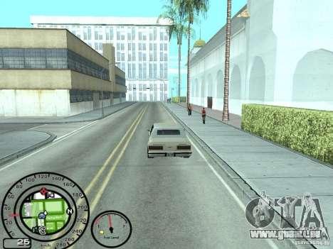 Compteur de vitesse avec jauge à essence pour GTA San Andreas troisième écran