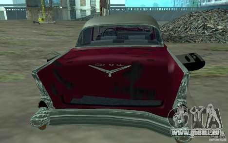 Chevrolet BelAir 4 Door Sedan 1957 für GTA San Andreas Rückansicht