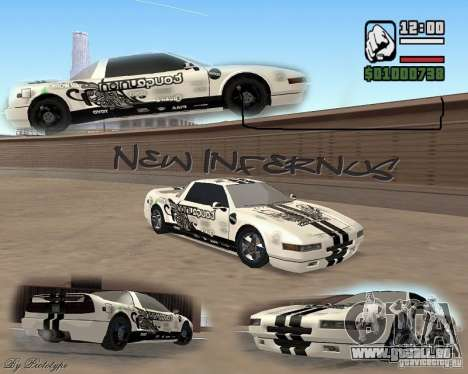 new Infernus Skin pour GTA San Andreas