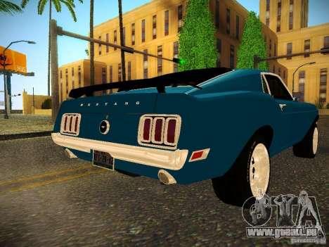 Ford Mustang Boss 429 1970 pour GTA San Andreas sur la vue arrière gauche