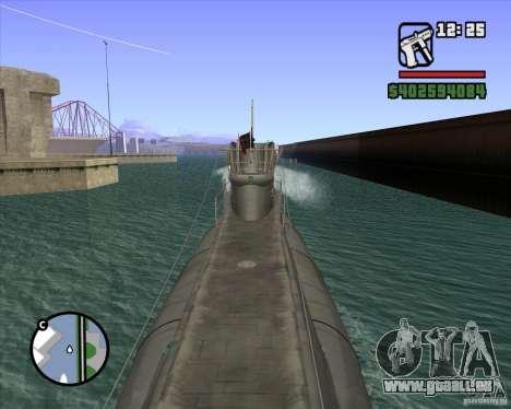 U99 German Submarine für GTA San Andreas her Screenshot