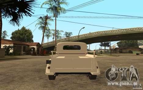 GAZ M415 pour GTA San Andreas sur la vue arrière gauche