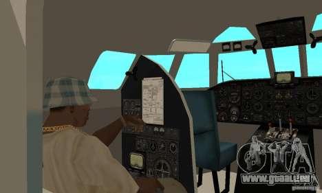 Antonow an-24 für GTA San Andreas Rückansicht