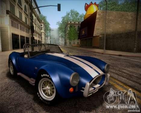 Shelby Cobra 427 Full Tunable pour GTA San Andreas vue de côté