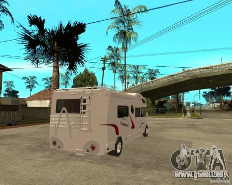 Chevrolet Camper pour GTA San Andreas sur la vue arrière gauche