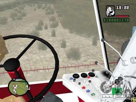 SK-5 Niva Mähdrescher für GTA San Andreas Innenansicht