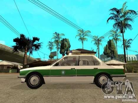 BMW E30 323i Polizei pour GTA San Andreas laissé vue