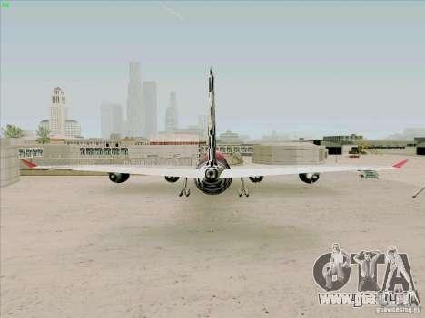 Airbus A-340-600 Formula 1 für GTA San Andreas zurück linke Ansicht