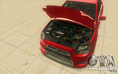 Mitsubishi Lancer Evolution X MR1 für GTA San Andreas Innenansicht