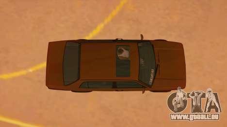 Volkswagen Jetta Mk2 pour GTA San Andreas vue intérieure