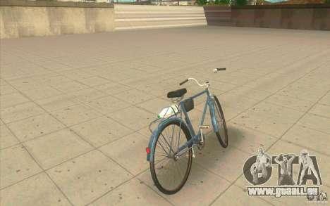 Fahrrad Ural-Dirty version für GTA San Andreas zurück linke Ansicht