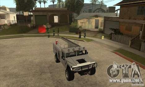 Hummer H1 Utility Truck pour GTA San Andreas vue arrière