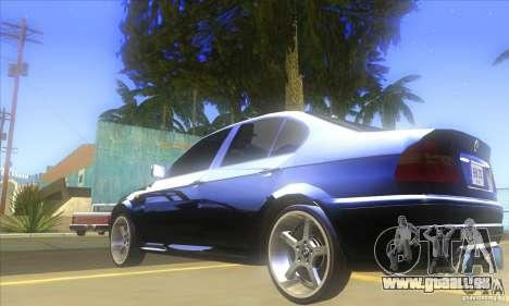 BMW 325i E46 v2.0 für GTA San Andreas Rückansicht
