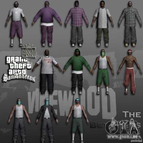 Beta Peds pour GTA San Andreas