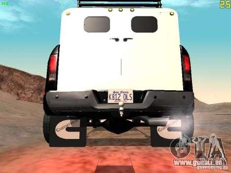 Dodge Ram 3500 Unmarked pour GTA San Andreas vue de droite