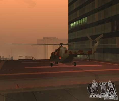 Militaires MI-17 pour GTA San Andreas vue de droite
