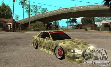 Nissan Silvia S13 Army Drift pour GTA San Andreas vue arrière