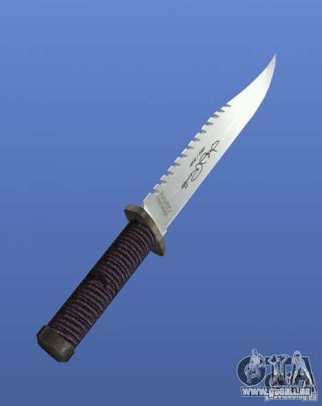 Couteau Rambo avec signature pour GTA 4 secondes d'écran
