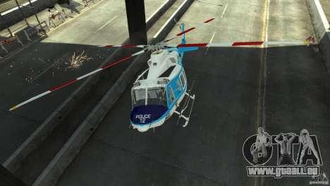 NYPD Bell 412 EP pour GTA 4 est une vue de l'intérieur