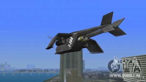 X-304 Gunship pour GTA Vice City sur la vue arrière gauche
