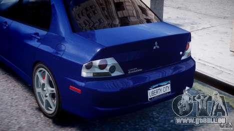 Mitsubishi Lancer Evolution VIII pour GTA 4 est une vue de dessous